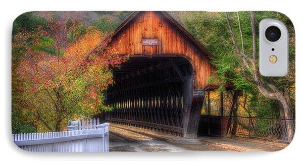 Covered Bridge In Autumn - Woodstock Vermont IPhone Case