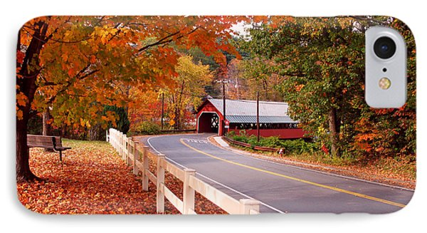 Covered Bridge In Brattleboro Vt IPhone Case by Jack Schultz