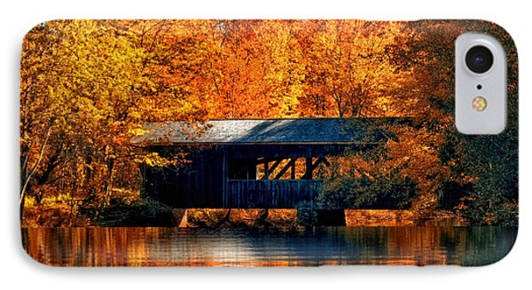 Covered Bridge IPhone Case by Joann Vitali