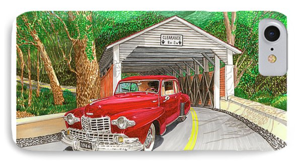 Covered Bridge Lincoln IPhone Case by Jack Pumphrey