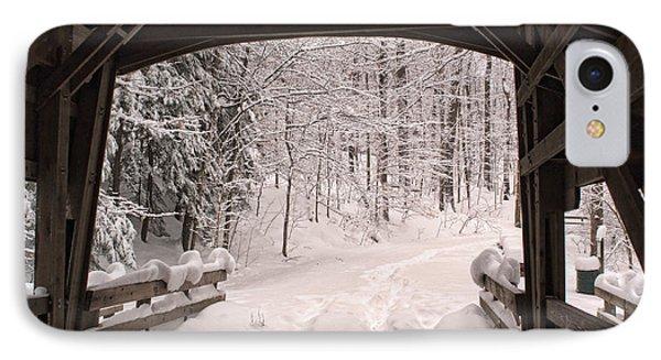Covered Bridge IPhone Case by Michael McGowan