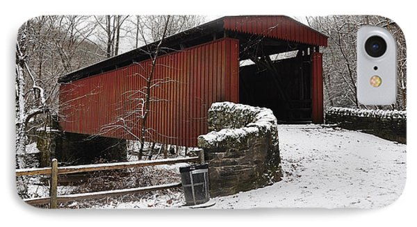 Covered Bridge Over The Wissahickon Creek Phone Case by Bill Cannon