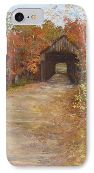 IPhone Case featuring the painting Covered Bridge  Southern Nh by Jack Skinner