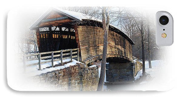 Covered Bridge IPhone Case by Todd Hostetter