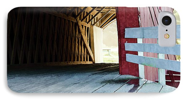 IPhone Case featuring the photograph Covered Bridge, Winterset, Iowa by Wilma Birdwell