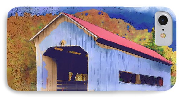Covered Bridge With Red Roof IPhone Case