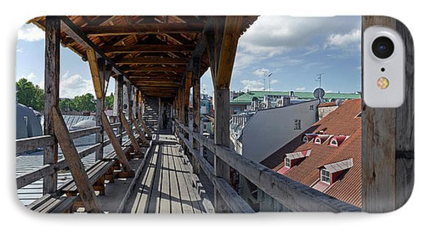 Covered Bridge With St Olafs Church IPhone Case by Panoramic Images