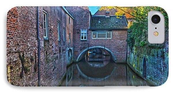 Covered Canal In Den Bosch IPhone Case by Frans Blok