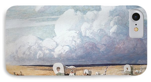 Covered Wagons Heading West Phone Case by Newell Convers Wyeth