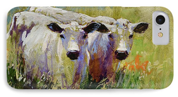 Cow Boys 2 IPhone Case by Tracie Thompson
