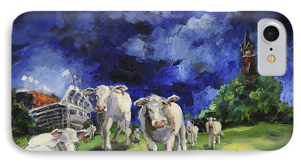 Cow College Auburn University IPhone Case by Carole Foret
