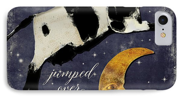Cow iPhone 7 Case - Cow Jumped Over The Moon by Mindy Sommers