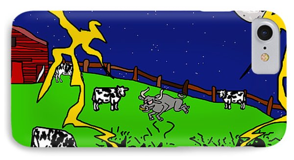 Cow Tipping Phone Case by Jera Sky