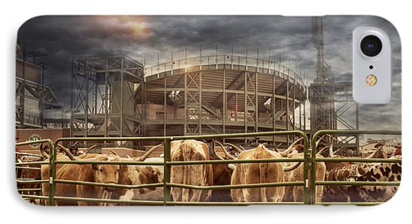 Cow Town IPhone Case by Juli Scalzi