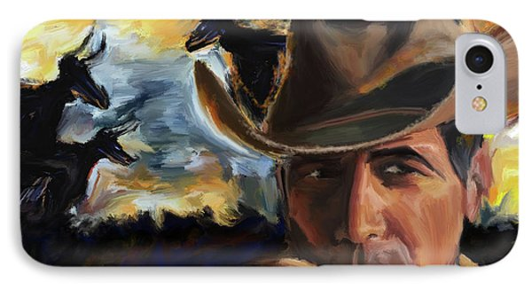 Cowboy 250 1  IPhone Case by Mawra Tahreem