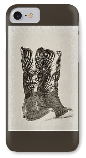 IPhone Case featuring the photograph Cowboy Boots by Ellen O'Reilly