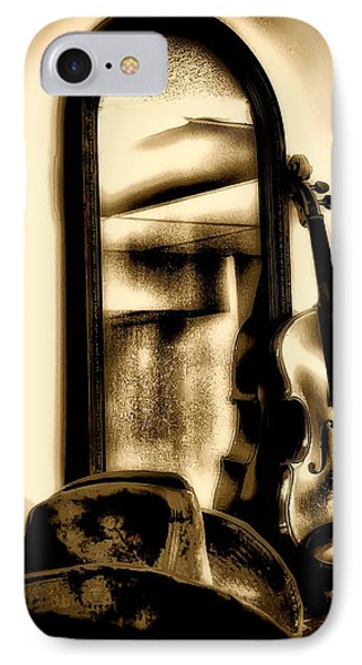 Cowboy Hat And Fiddle Phone Case by Bill Cannon
