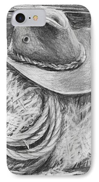 Cowboy Hat In A Barn Phone Case by Nolan Clark