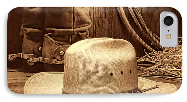 Cowboy Hat With Western Boots IPhone Case by American West Legend By Olivier Le Queinec