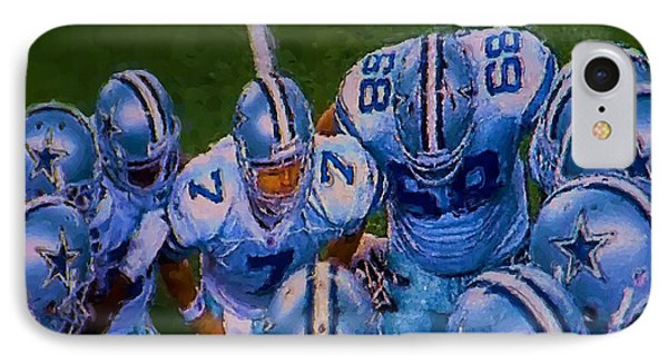 Cowboy Huddle IPhone Case by Steven Richardson