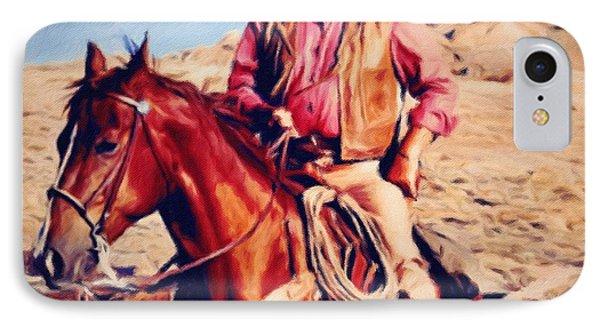 Cowboy John Wayne Phone Case by Vincent Monozlay
