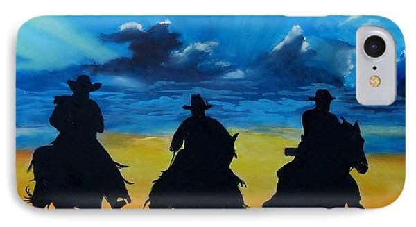 Cowboy  Sunset Phone Case by Stefon Marc Brown