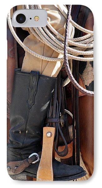 Cowboy Tack Phone Case by Joan Carroll