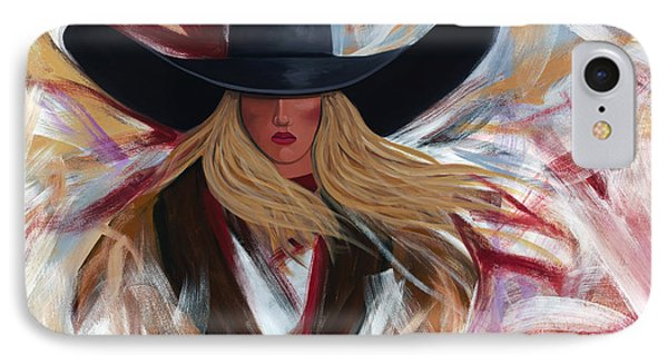 Cowgirl Colors IPhone Case by Lance Headlee