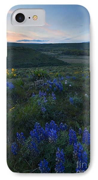 Cowiche Wildflower Sunset IPhone Case by Mike Dawson