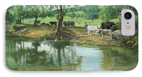 Cows And Creek IPhone Case