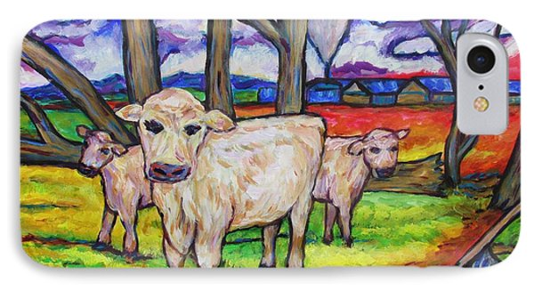 Cows And Fallen Gum Trees IPhone Case by Dianne  Connolly