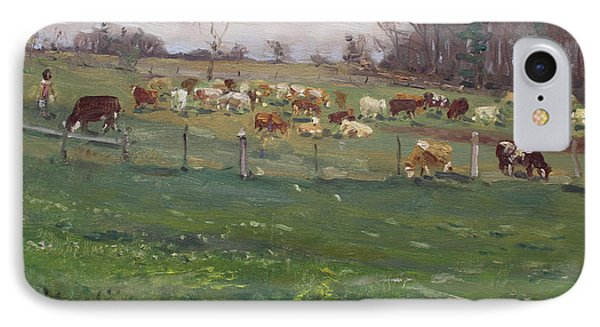 Cows In A Farm, Georgetown  IPhone Case by Ylli Haruni
