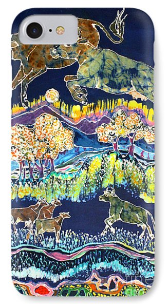Cows Jumping Over The Moon Phone Case by Carol  Law Conklin