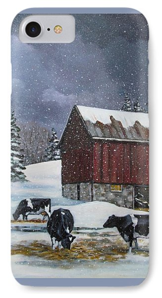 Cows On Snowy Day No. 4 IPhone Case