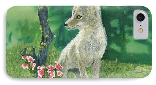 Coyote Pup Phone Case by Terry Lewey