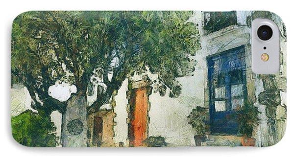 Cozy Garden, Sant Pol De Mar, Spain IPhone Case by Evgeny Leonov