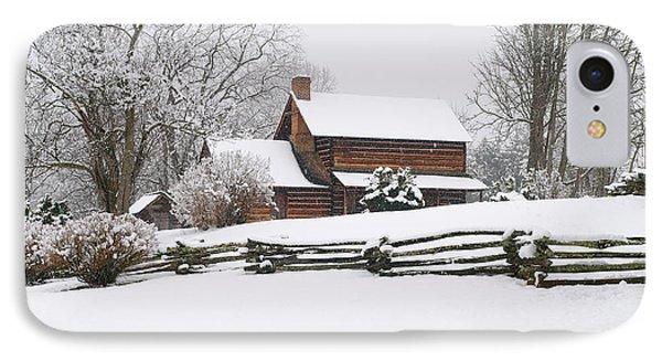 Cozy Snow Cabin Phone Case by J K York