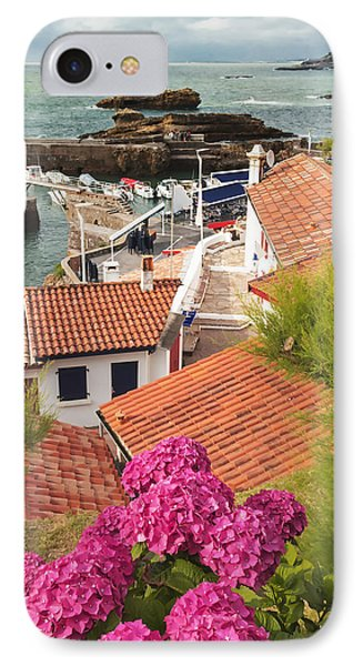 cozy tourist town on the Bay of Biscay IPhone Case