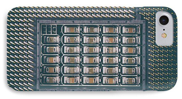 Cpu Socket On Computer Motherboard IPhone Case