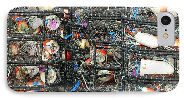 Crab Traps Phone Case by Larry Keahey
