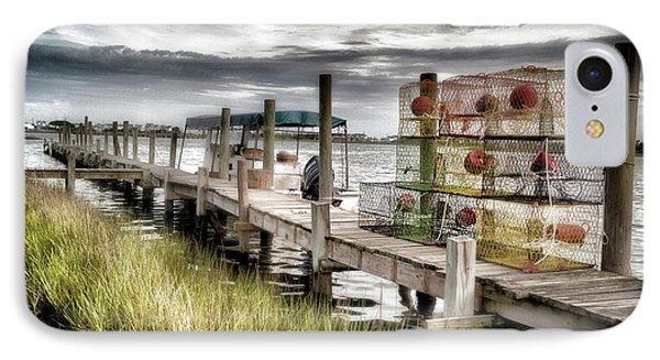 Crabber's Dock, Surf City, North Carolina IPhone Case by John Pagliuca