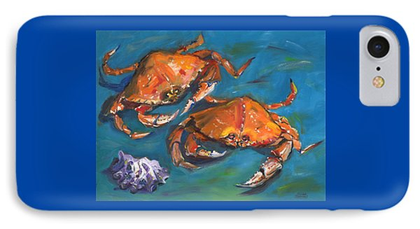 IPhone Case featuring the painting Crabs by Susan Thomas