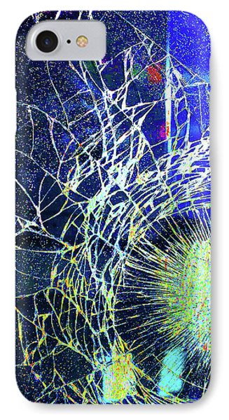 IPhone Case featuring the mixed media Crack by Tony Rubino