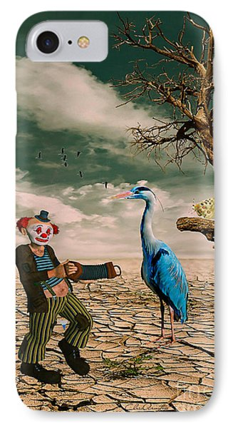 IPhone Case featuring the photograph Cracked IIi - The Clown by Chris Armytage