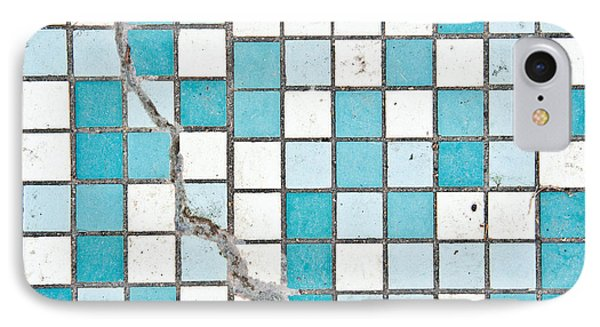 Cracked Tiled Surface IPhone Case by Tom Gowanlock
