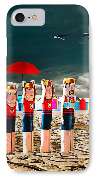 IPhone Case featuring the photograph Cracked V - The Life Guards by Chris Armytage