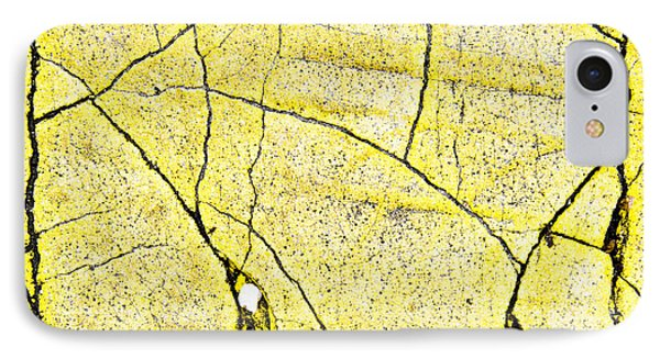 Cracked Yellow Paint IPhone Case by Tom Gowanlock