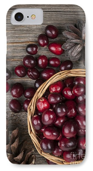 Cranberries In Basket IPhone Case by Elena Elisseeva