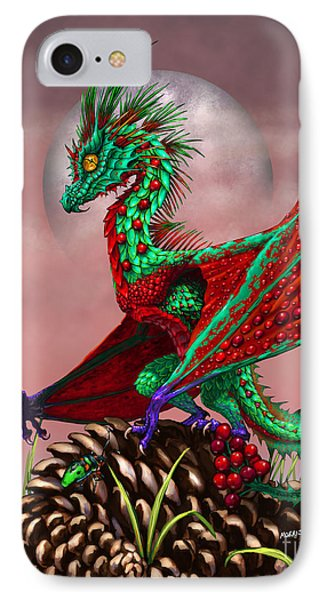Cranberry Dragon IPhone Case by Stanley Morrison