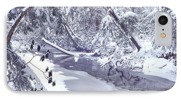 Cranberry River Winter Heavy Snow Phone Case by Thomas R Fletcher